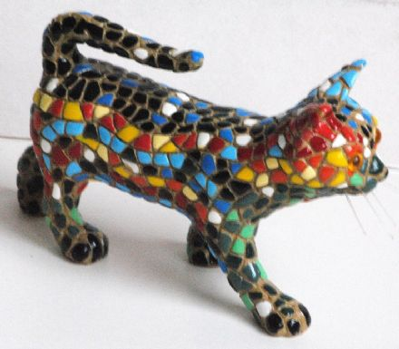 Barcino Designs small walking cat  09744